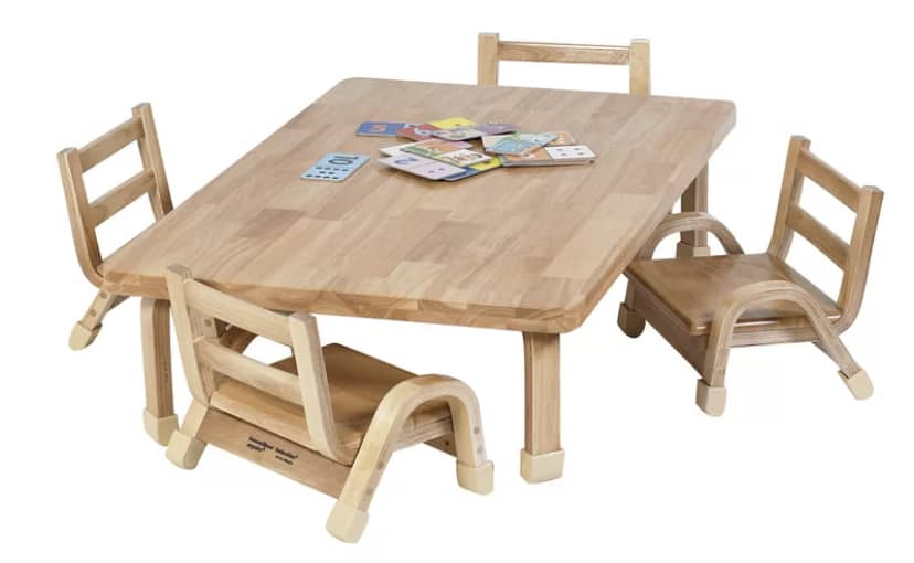 montessori toddler classroom table and chairs